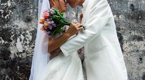 Asian Wedding Couple Royalty Free Stock Photos