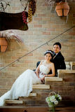 Asian wedding couple show concept of love Royalty Free Stock Photos