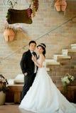 Asian wedding couple show concept of love Stock Photos