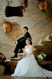 Asian wedding couple show concept of love Stock Photography