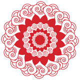 Asian wedding makeup  henna tattoo decoration inspired flower, floral shape with  heart elements in white and red symbolizing happ Royalty Free Stock Photos
