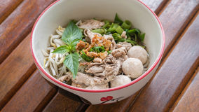 Asian white noodles Stock Photography