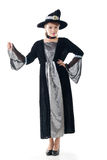Asian witch hold something Royalty Free Stock Photo
