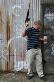 Asian With A Gun Stock Photos