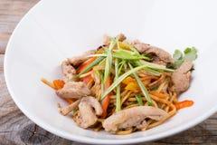 Asian wok noodles Stock Images