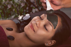 Asian womam in spa treatment,facial mask with algae Stock Photography