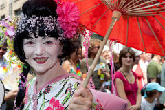 Asian Woman. People on the Christopher Street Day (CSD) in Cologne on the 07/05/2009 Stock Image