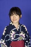 Asian woman. Model Release 302   Asian teen dressed in a Kimono Royalty Free Stock Photo