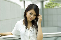 Asian woman. Attractive Asian Girl outdoor portrait Royalty Free Stock Photo