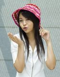 Asian woman. Attractive asian woman outdoor portrait Royalty Free Stock Photo