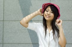Asian woman. Attractive asian woman outdoor portrait Royalty Free Stock Photography