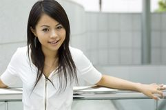 Asian woman. Attractive asian woman outdoor portrait Royalty Free Stock Image