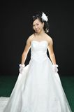 Asian woman. In wedding dress Royalty Free Stock Images