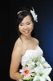 Asian woman. In wedding dress Stock Image