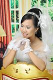 Asian woman. In wedding dress Royalty Free Stock Image
