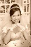 Asian woman. In wedding dress Royalty Free Stock Photos