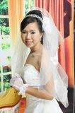 Asian woman. In wedding dress Stock Photography