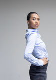 Asian woman action in business look Royalty Free Stock Photos