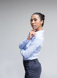 Asian woman action in business look Stock Photo