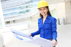 Asian Woman Architect Stock Photos