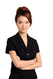 Asian woman with arms folded Stock Image