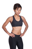 Asian woman athlete over white background Royalty Free Stock Photos