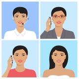 Asian woman avatar Stock Photos