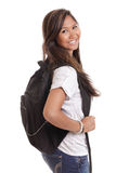 Asian woman with backpack Stock Photos