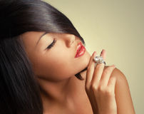 Asian woman beauty face Stock Photography