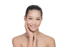 Asian woman with beauty face Royalty Free Stock Photography