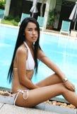 Asian woman in a bikini. Royalty Free Stock Image