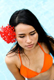 Asian woman in a bikini. Royalty Free Stock Photo