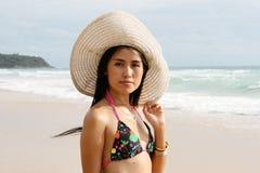 Asian woman in a bikini. Stock Image