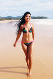 Asian woman in a bikini. Royalty Free Stock Photography