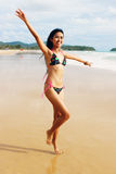 Asian woman in a bikini. Royalty Free Stock Photos