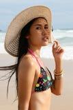 Asian woman in a bikini. Stock Photo