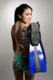 Asian woman in bikini Royalty Free Stock Photos