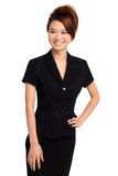 Asian woman in black dress Royalty Free Stock Photography