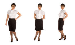 Asian Woman in Black Eye Glass Frame and Office Outfit #3 Stock Image