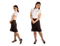 Asian Woman in Black Eye Glass Frame and Office Outfit #2 Royalty Free Stock Image