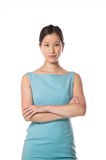 Asian woman with a blue dress Stock Photos