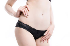 Asian woman body slim. Stock Photography