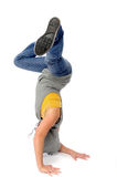 Asian woman break dancing Royalty Free Stock Photos
