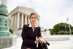 Asian woman on Capitol Hill Stock Images
