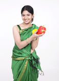 Asian woman with capsicum Stock Photo