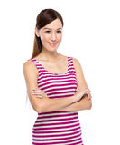 Asian Woman with casual wear Royalty Free Stock Image