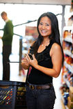 Asian Woman with Cell Phone stock photos