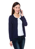 Asian woman chat on mobile phone Stock Photography