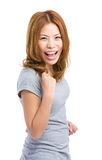 Asian woman cheer up Stock Photo