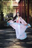 Chinese,Asian woman with Chinese traditional dress Royalty Free Stock Images